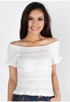 Cute Textured Short Sleeve Top