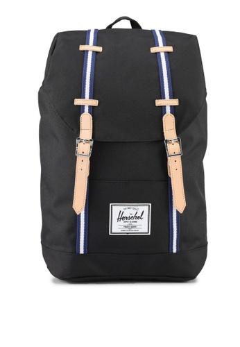Herschel black Retreat Backpack 47043ACC3302D7GS_1