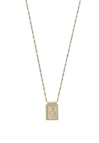 CLUSE gold Force Tropicale Gold Twisted Chain Tag Pendant Necklace B54D7ACE1D0414GS_1