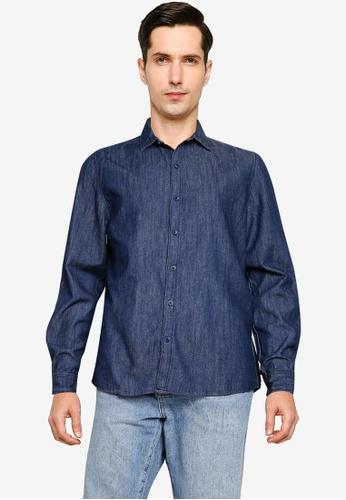Cotton On navy Fitzroy Denim Shirt 6A643AAC727770GS_1