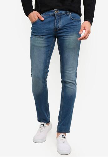!Solid blue Joy Slim Fit Jeans 1F3CDAAF839EBCGS_1