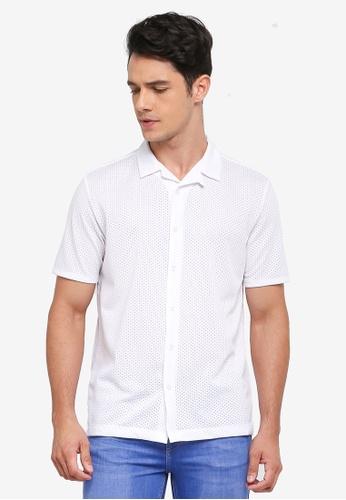 Topman 白色 休閒短袖襯衫 B8F33AAA59B3B9GS_1