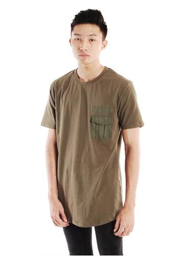 Praise green Pocket T-shirt PR067AA08HNNSG_1