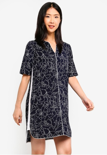 ZALORA BASICS multi Basic Contrast Notch Neck Dress A47F2AACAEF6C9GS_1
