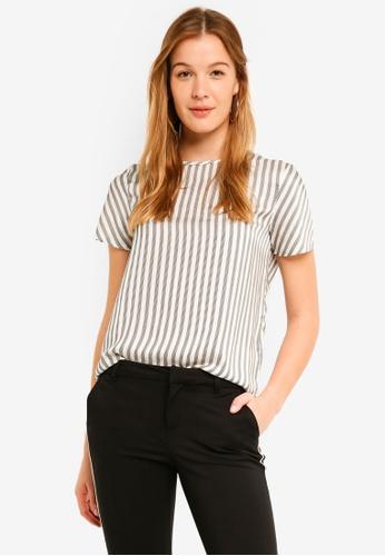Vero Moda white Britt Short Sleeve Top A0B79AAA21981FGS_1