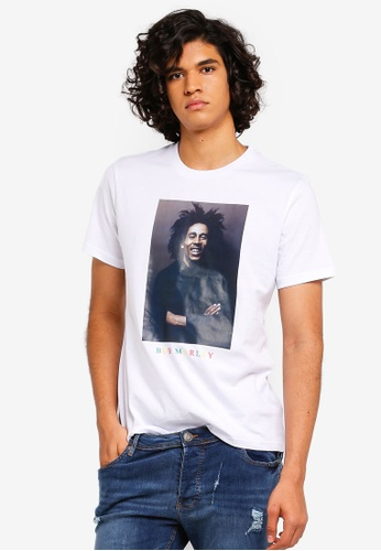 426d96364767 Buy Topman White Bob Marley T-Shirt Online on ZALORA Singapore
