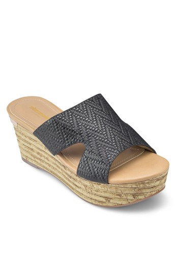 Camelia 暗紋厚底楔型鞋, 女鞋,esprit 澳門 鞋