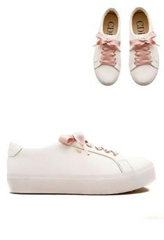 harga Carmilla Women Sneaker White with Rose Ribbon Zalora.co.id