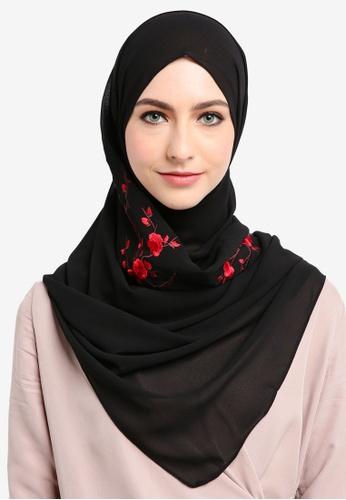 Najjah black Shawl Sulam 59DCFAABAE7DE8GS_1