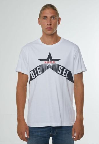 Diesel white T-DIEGO-A7 MAGLIETTA T-Shirt 7D2ECAA2CCE49DGS_1