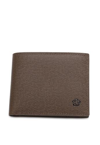 Wild Channel brown Men's Genuine Leather RFID Blocking Bi Fold Wallet D5387ACBC0B01EGS_1