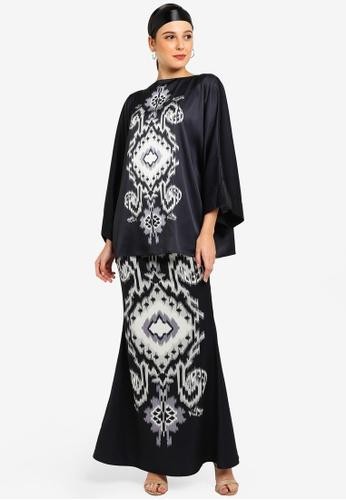 Azura Kimono Kurung from Tom Abang Saufi for ZALORA in Black
