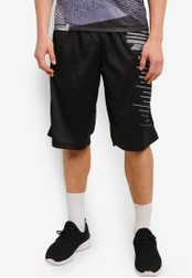 2GO black Printed Basketball Shorts 2G729AA0S5VXMY_1