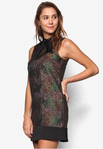 Miss Selfridge multi Floral Jacquard Shift Dress MI665AA39NZGMY_1