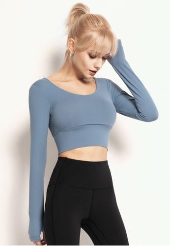 HAPPY FRIDAYS Women's Yoga Long Sleeve Tees DSG190103 E45D4AA2D6CFD1GS_1