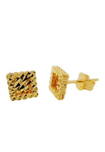 LITZ gold LITZ 916 (22K) Gold Shape Earrings 88195AC7FC2824GS_1