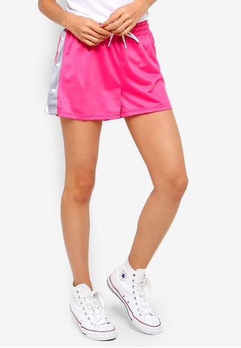 Factorie pink Popper Shorts A375CAA6A9B54DGS_1
