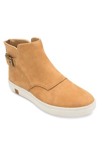 Timberland Amzalora 台灣門市herst Chelsea 扣環騎士短靴, 女鞋, 鞋