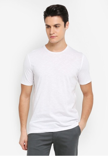 Sisley 白色 竹節棉基本款短袖T恤 CE2F9AADA85918GS_1