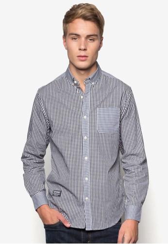 格紋長袖襯衫, esprit 折扣服飾, 服飾