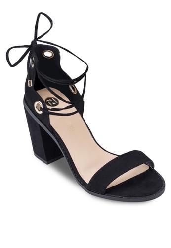 麂zalora時尚購物網評價皮繫帶粗跟涼鞋, 女鞋, 鞋