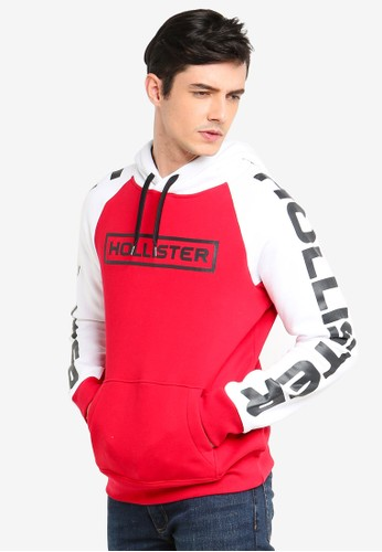 Hollister multi Raglan Colorblock Hoodie 74010AA7DAFAE6GS_1
