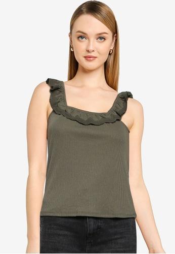 JACQUELINE DE YONG green Ebba Sleeveless Top 7A1F3AA6E8AE88GS_1