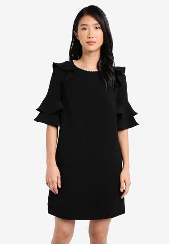 River Island black Pearl Swing Dress RI009AA0SJC9MY_1