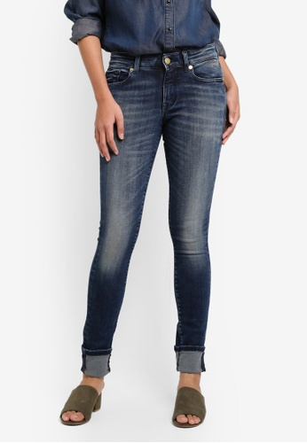 ONLY blue ONLY ONE Alba Fitted Jeans AF594AA42B56E0GS_1