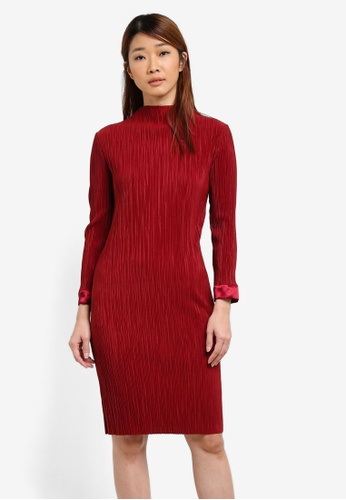 Selected Femme red Felicia Dress SE157AA0SED7MY_1