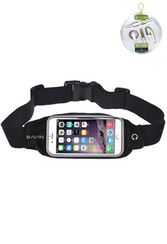Sports Running Gym Waist Belt Bag with FREE Stereo Earphone