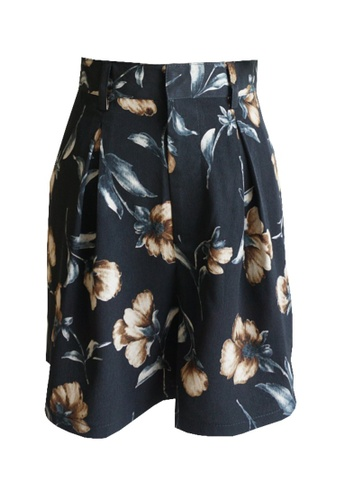 Love Knot brown Jones Classic Floral Print Shorts (Brown) 3EEE7AAD95C6EDGS_1