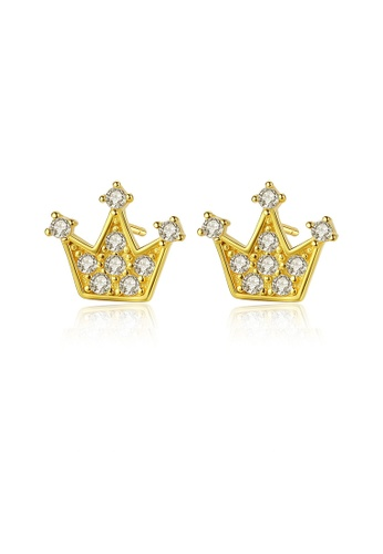 SUNRAIS silver Premium Silver S925 Silver Crown Earrings F80A1ACC00FCF7GS_1