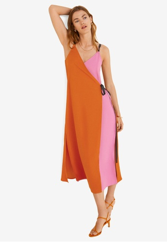 2e21a56b7d53 Buy Mango Bow Bicolor Dress   ZALORA HK