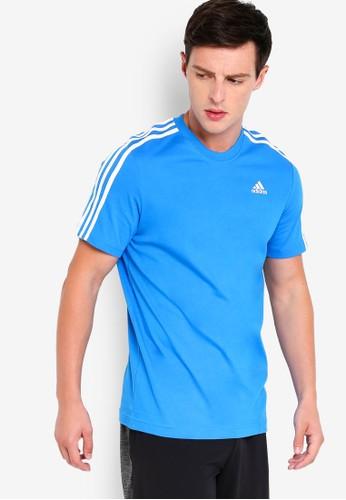 adidas blue adidas ess 3s tee C5547AA9ACEBFCGS_1