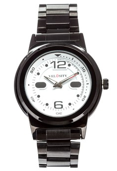 White Dial Metal Case and Strap Watch