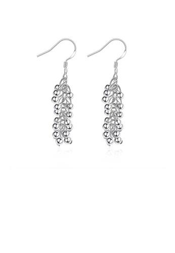 Glamorousky silver Fashion Creative Grape Shape Earrings 95C5CAC4C03E5AGS_1
