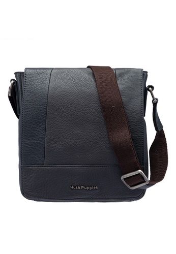 5fb227932 Hush Puppies grey Hush Puppies Men's Chase Leather Sling Bag Grey  4903EAC70939A8GS_1