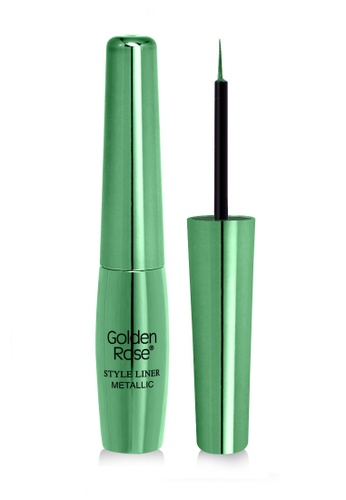 GOLDEN ROSE green Metallic Style Liner - 04 GO743BE15DYYMY_1