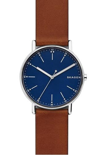 Skagen brown Skagen Signatur Brown Leather Watch SK533AC35ZUAMY_1