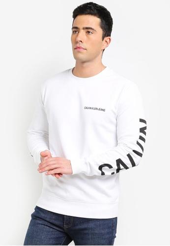 Calvin Klein 白色 LOGO印花棉T 73841AA81A8273GS_1