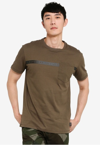 SUPERDRY green Surplus Goods Short Sleeve Boxy Graphic Tee 9D787AAECB8EFCGS_1
