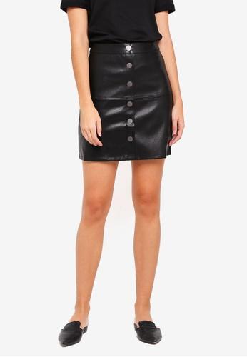 Pieces black Paulina Short Skirt BE96EAA9048FF4GS_1