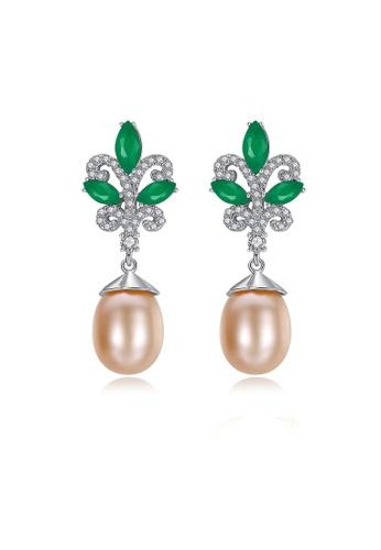 SUNRAIS silver Premium colored stone silver flower earrings CD601AC85BE53DGS_1