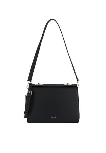 SEMBONIA black Turnlock Shoulder Bag F0CF6ACBDB6137GS_1