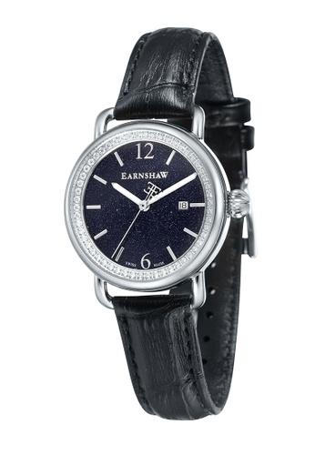 Thomas Earnshaw black Thomas Earnshaw INVESTIGATOR ES-0030-01 Women's Black Genuine Leather Strap Watch TH587AC20TEPHK_1