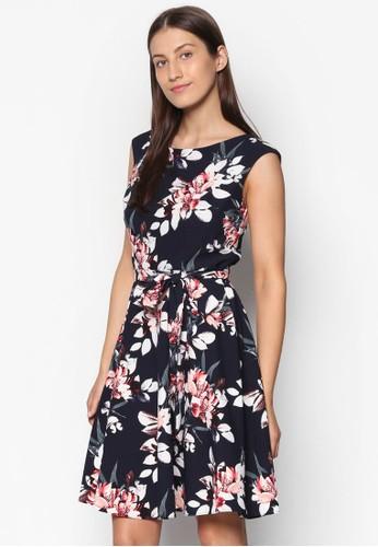 束腰繫帶印花洋裝, 服飾, 洋esprit服飾裝