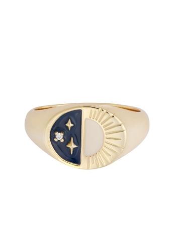 Wanderlust + Co gold Presence Gold Ring 668FAAC2313F5DGS_1