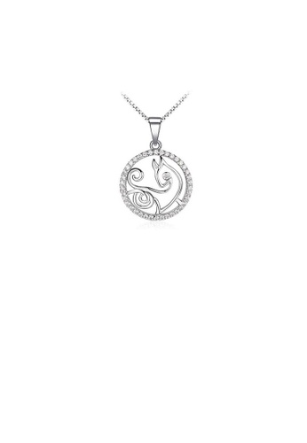 Glamorousky white Fashion 925 Sterling Silver Capricorn Pendant with White Cubic Zircon and Necklace ADDD5ACC74DF35GS_1