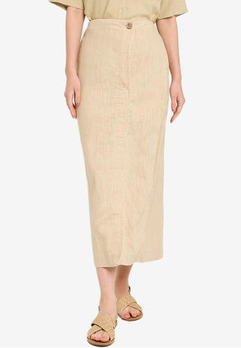 niko and ... beige Woven Maxi Skirt 2D7CEAAE36F66EGS_1